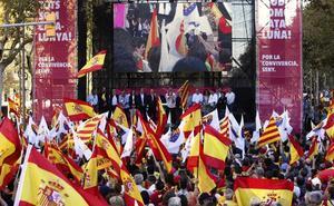 Sociedad Civil Catalana y Tabarnia, unidos en la manifestación del día 25