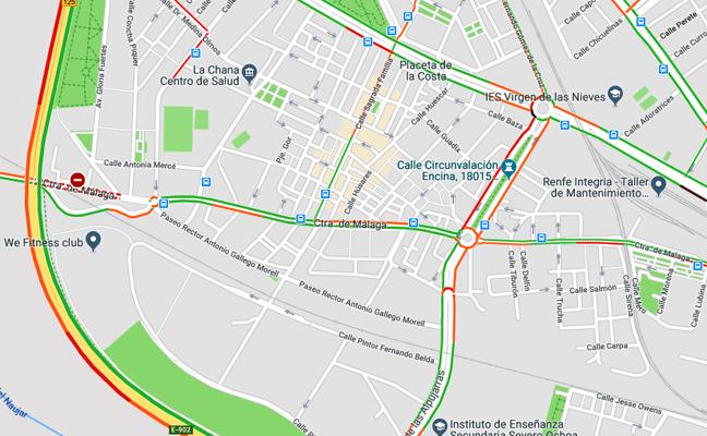 Tráfico lento en la Circunvalación por la gran afluencia de vehículos