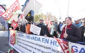 Jornada de huelga en 'Sierra Cerrada'