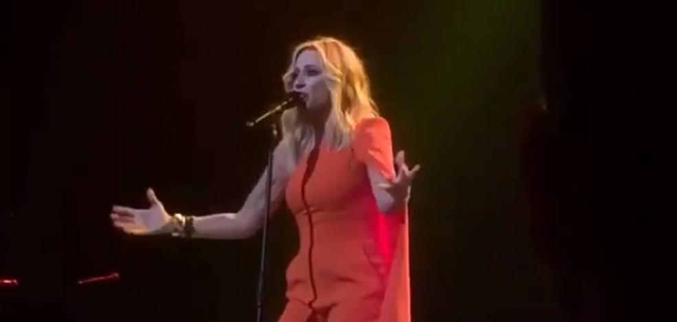 Marta Sánchez sorprende con su versión del himno de España