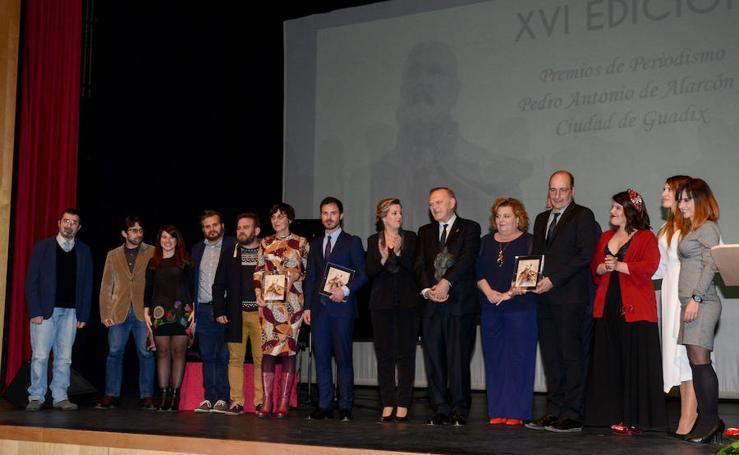 Pedro Piqueras recibe el Premio Nacional de Periodismo 'Pedro Antonio de Alarcón' en Guadix