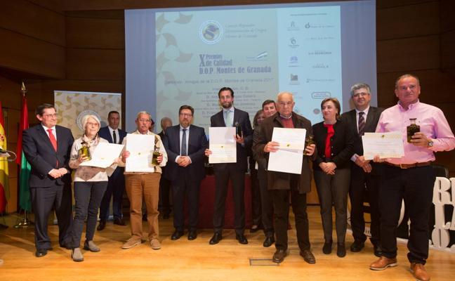 Premio a los mejores aceites de la DOP Montes de Granada