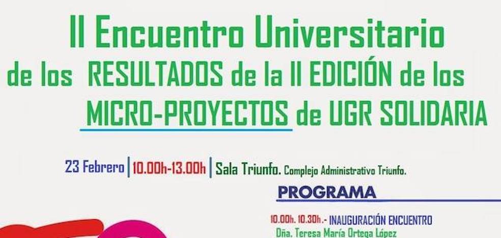 UGR SOLIDARIA presenta los resultados de la 2ª Edición de sus Micro-proyectos