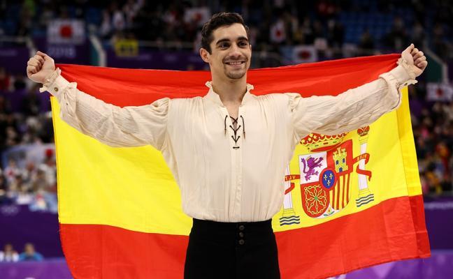 Javier Fernández, abanderado de España en la clausura