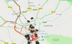 Una colisión múltiple provoca seis kilómetros de retenciones en la Circunvalación de Granada