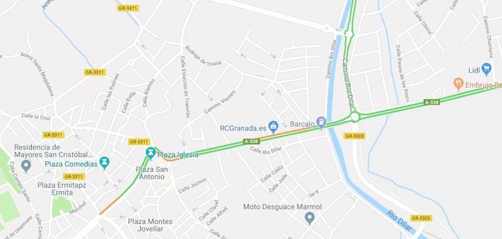 Dos heridos en una colisión entre dos turismos en Las Gabias