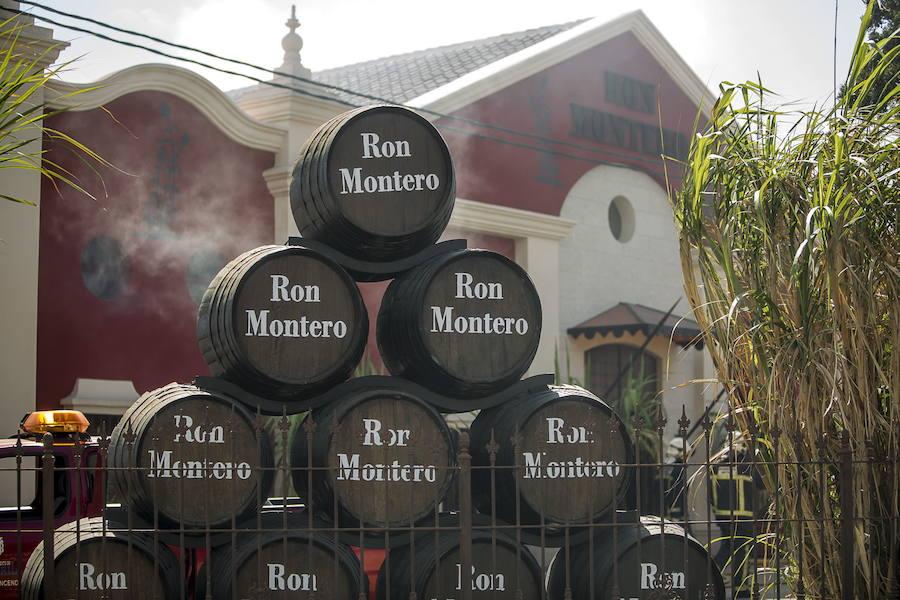 Así fue el incendio en la fábrica de Ron Montero