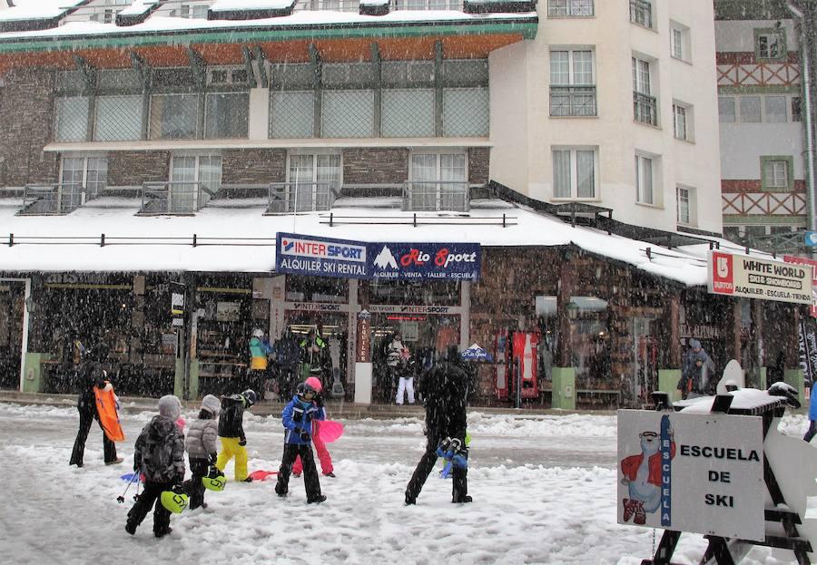 Gran nevada sobre Pradollano