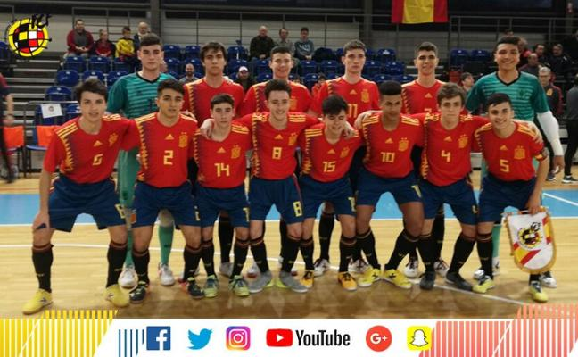 Antonio Pérez debuta con la selección española de fútbol sala sub 19