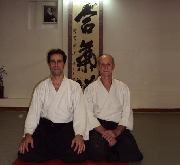 Sensei (maestro) Óscar San Cristóbal y Shihan (maestro de maestros) Frank Noël. /IDEAL