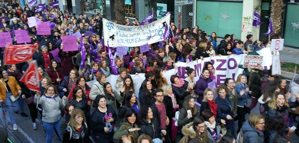 Multitudinaria manifestación en Jaén