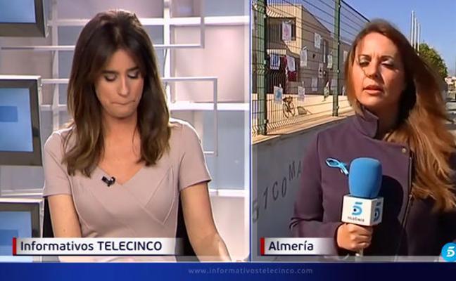 La presentadora Isabel Jiménez, rota de emoción y llorando al hablar del pequeño Gabriel