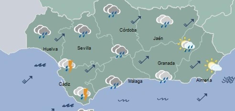 Almería, en alerta amarilla por rachas fuertes de viento y lluvias