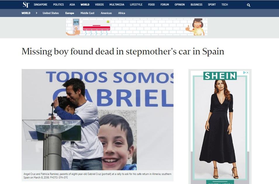 La prensa de todo el mundo se hace eco de la muerte de Gabriel