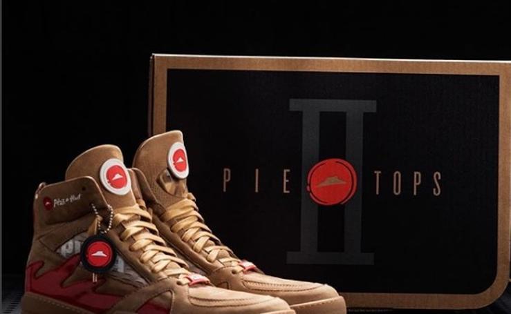 Así son las nuevas zapatillas de Pizza Hut