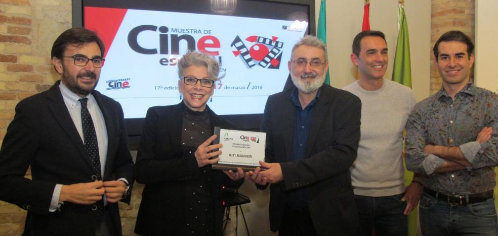 Kiti Mánver recibe el Premio Asecan Josefina Molina en la Muestra de Cine Inédito en Jaén