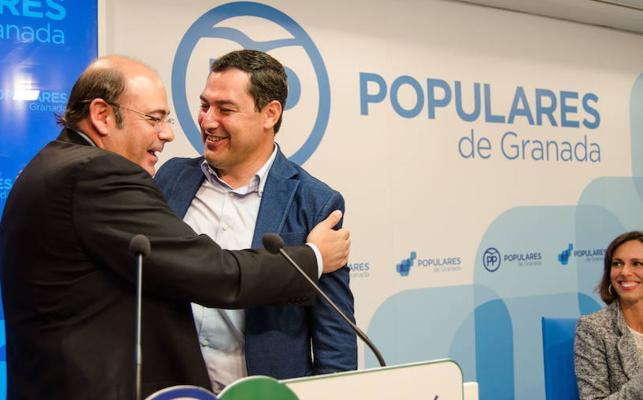 Juanma Moreno propone a Sebastián Pérez como candidato a la alcaldía de Granada