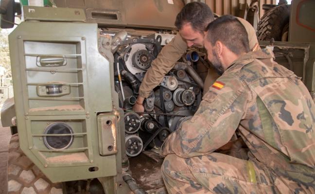 El Grupo Logístico de La Legión presta apoyo a los militares instructores desplegados en Malí