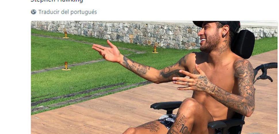 """""""Es el colmo del egocentrismo"""": aluvión de críticas a Neymar por su """"homenaje"""" a Hawking"""
