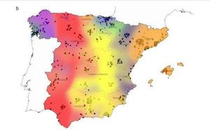 El mapa que demuestra que los nacidos en Granada tienen más parecido genético con Cantabria que con Sevilla