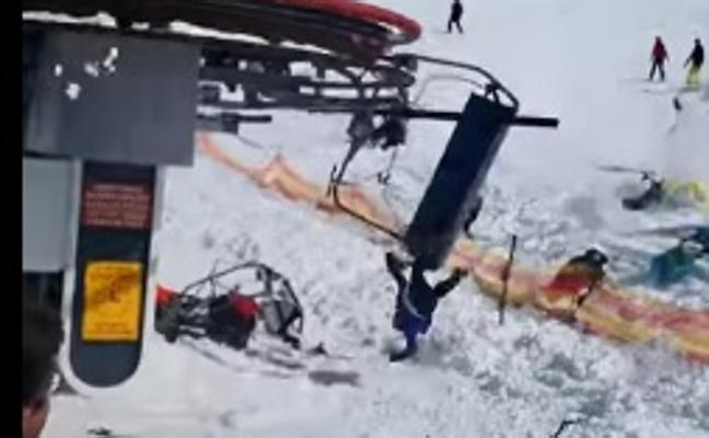 Un telesilla pierde el control en una estación de esquí y deja al menos ocho heridos