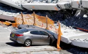 Un ingeniero advirtió de grietas en el puente de Miami días antes del desplome que dejó seis muertos