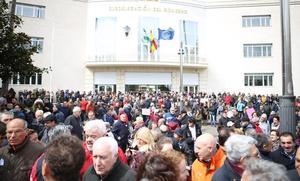 Los pensionistas desafían al mal tiempo en toda la provincia de Jaén