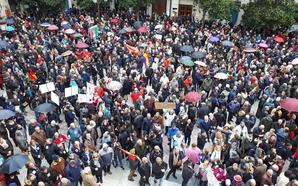 El centro de Granada se llena en defensa de las pensiones