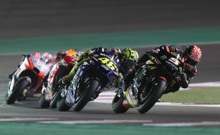 La carrera de MotoGP del GP de Catar, en imágenes