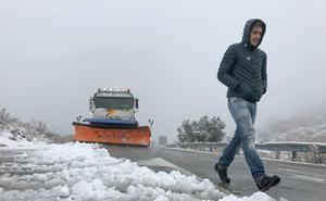 Aviso amarillo por fuertes nevadas en gran parte de la provincia de Granada
