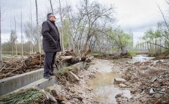 La riada causa pérdidas de 15 millones en las cosechas y destroza infraestructuras agrarias
