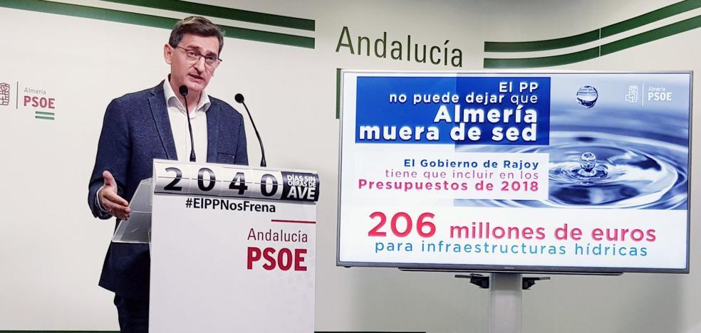 El PSOE exige al Gobierno central 206 millones para infraestructuras hídricas