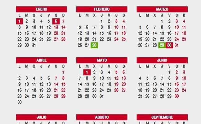 Fecha del inminente cambio de hora y festivos y puentes de la Semana Santa. ¿Dónde es fiesta?