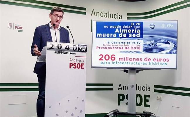 El PSOE exige al Gobierno que incluya en los presupuestos 206 millones para infraestructuras hídricas