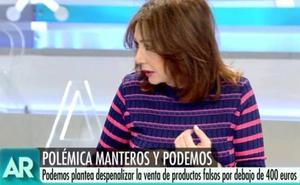 """El 'dardo' de Ana Rosa contra Podemos: """"¿Y si pongo yo un chiringuito en Plaza Castilla?"""""""
