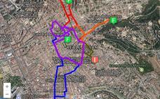 Los cortes de tráfico por el Domingo de Ramos en Granada: calles cerradas y cambios en los autobuses