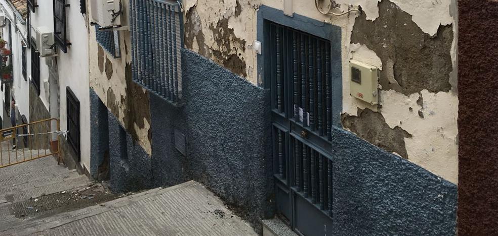 Peligro de derrumbe de una casa en Jaén por el temporal