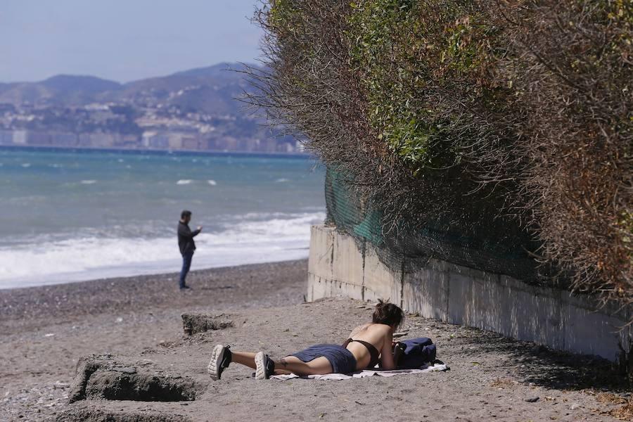 Viento y frío en Playa Granada