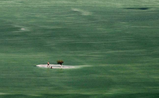 La asombrosa escena de la vida en el mar Muerto