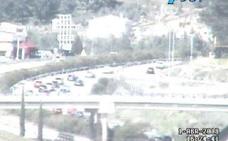 Circulación lenta y densidad de tráfico en puntos de Jaén durante la Operación Retorno de Semana Santa