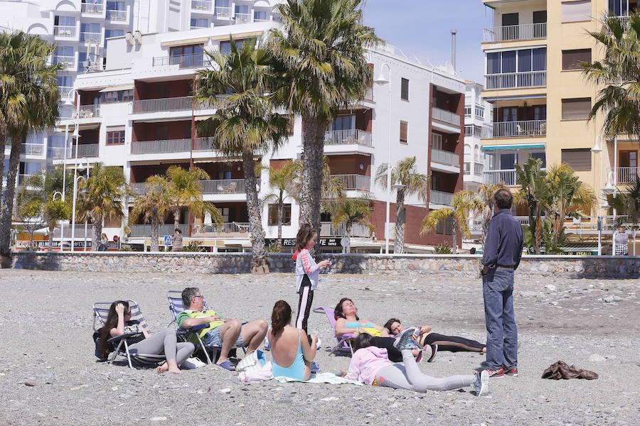 Ambiente en la playa de San Cristóbal