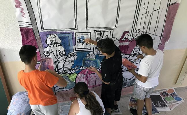 Los alumnos del colegio María Zambrano crean su propia pinacoteca