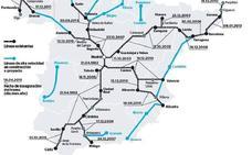 La línea de Galicia se lleva casi la mitad del presupuesto de AVE para España este año