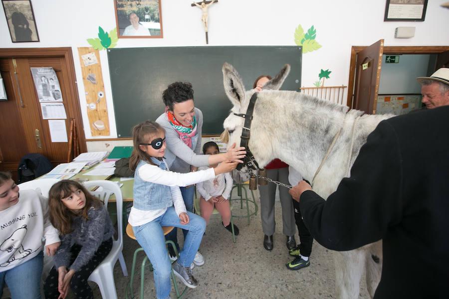 Platero y Juan Ramón Jiménez visitan el colegio Padre Manjón