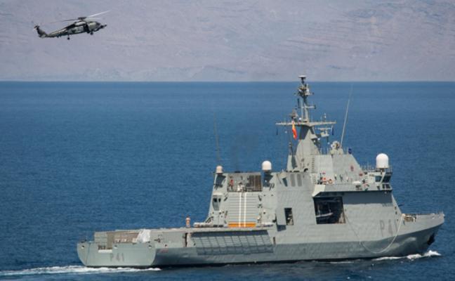 El 'Meteoro' protector del tráfico marítimo frente a los piratas en el Índico