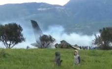 Tragedia aérea: al menos 257 muertos tras estrellarse un avión militar
