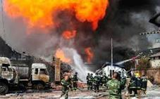 Explota un camión en China y deja 7 desaparecidos y 13 heridos: «Es un caos...»