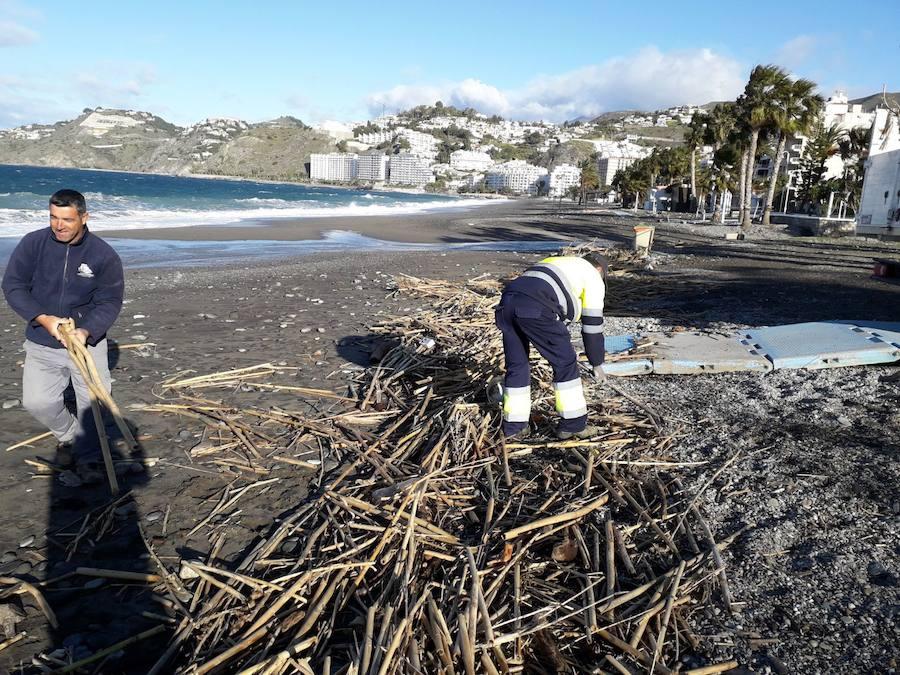Las imágenes de cómo ha dejado el temporal las playas