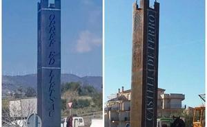 El Ayuntamiento de Castell de Ferro (Granada) encarga un monolito de 16.000 euros y lo colocan con el nombre del pueblo al revés