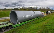Las piezas para ensamblar Hyperloop llegan a Europa